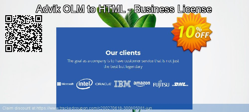 Get 10% OFF Advik OLM to HTML - Business License offering sales