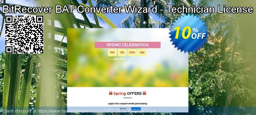 BitRecover BAT Converter Wizard - Technician License coupon on July 4th discounts
