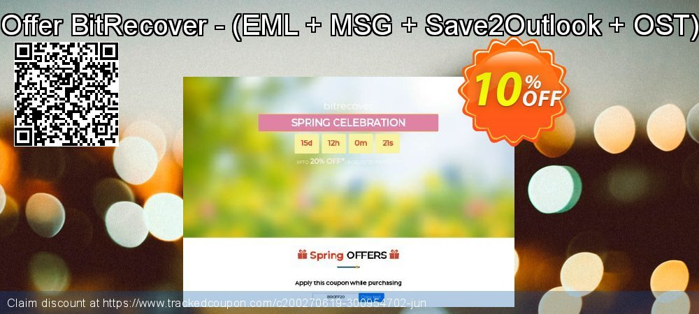 Bundle Offer BitRecover - - EML + MSG + Save2Outlook + OST to PST coupon on University Student deals deals