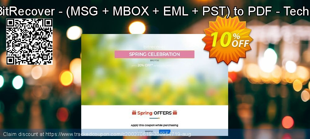 Bundle Offer BitRecover - - MSG + MBOX + EML + PST to PDF - Technician License coupon on University Student deals sales