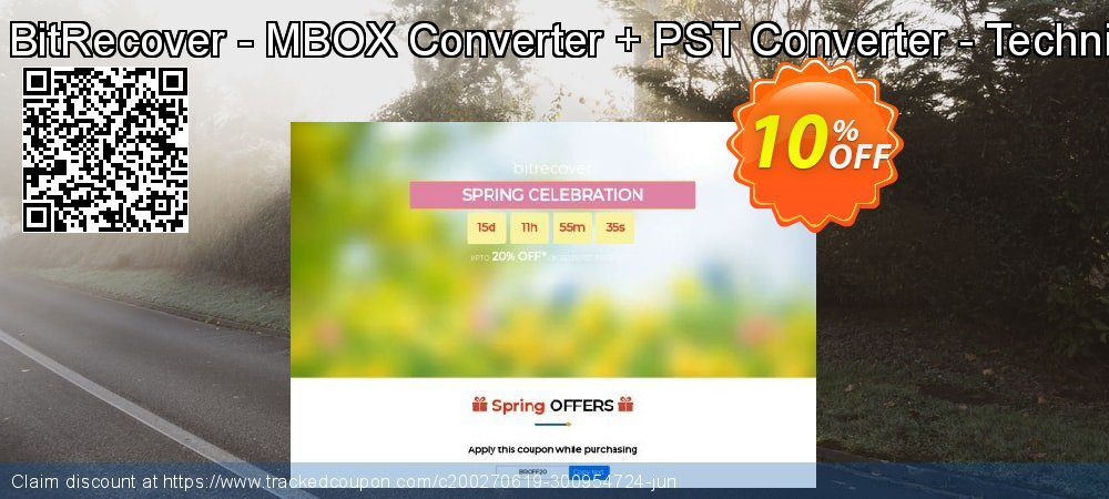 Bundle Offer BitRecover - MBOX Converter + PST Converter - Technician License coupon on Back-to-School event offering sales
