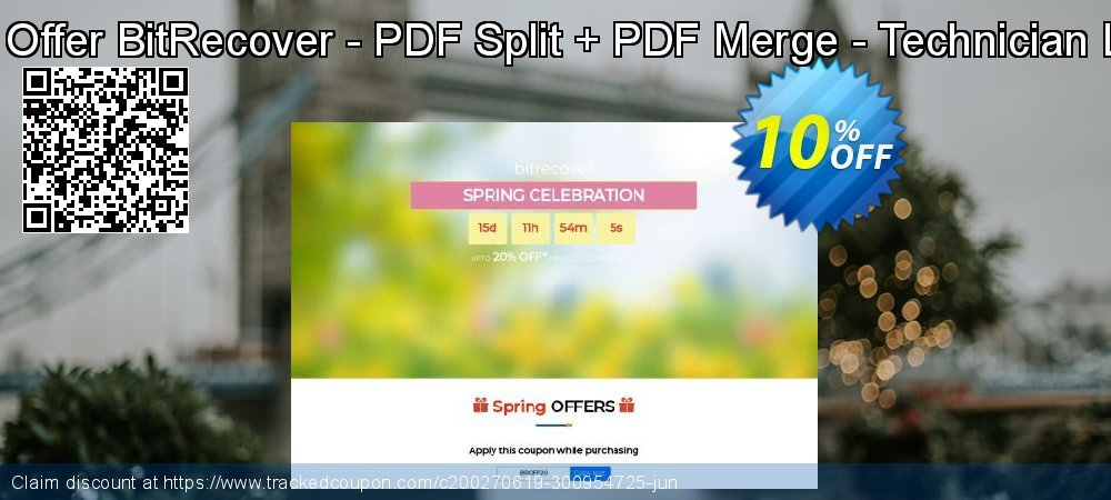 Bundle Offer BitRecover - PDF Split + PDF Merge - Technician License coupon on Back to School promotions super sale