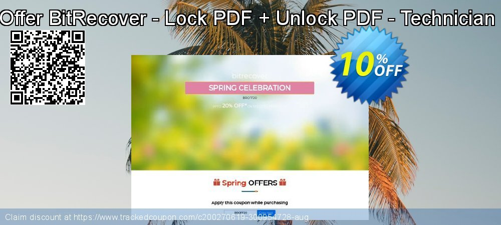 Bundle Offer BitRecover - Lock PDF + Unlock PDF - Technician License coupon on Back to School offer sales
