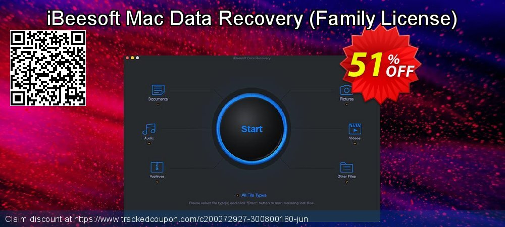 iBeesoft Mac Data Recovery - Family License  coupon on New Year offering sales