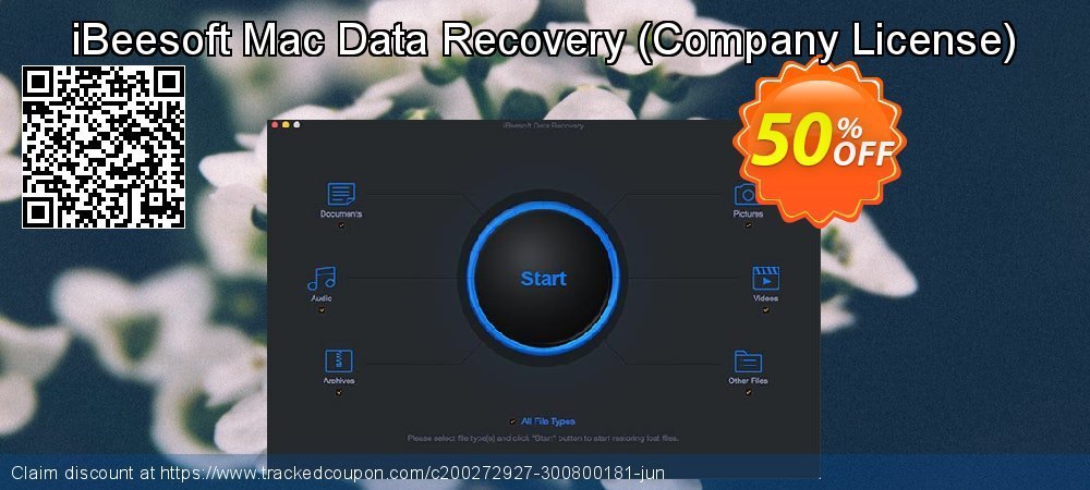 iBeesoft Mac Data Recovery - Company License  coupon on New Year's Day super sale