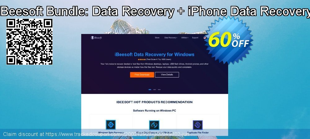 iBeesoft Bundle: Data Recovery + iPhone Data Recovery coupon on Happy New Year deals