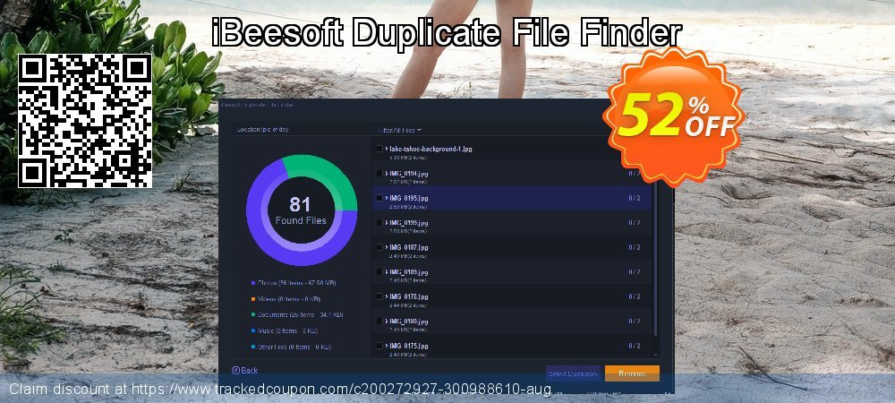 iBeesoft Duplicate File Finder coupon on Happy New Year offer