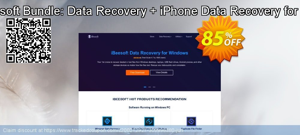 iBeesoft Bundle: Data Recovery + iPhone Data Recovery for Mac coupon on New Year offering sales