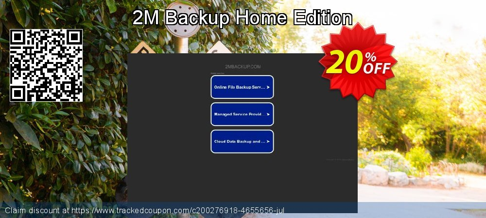 2M Backup Home Edition coupon on New Year promotions
