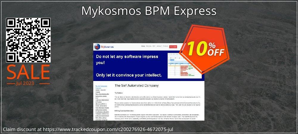 Get 10% OFF Mykosmos BPM Express offering sales