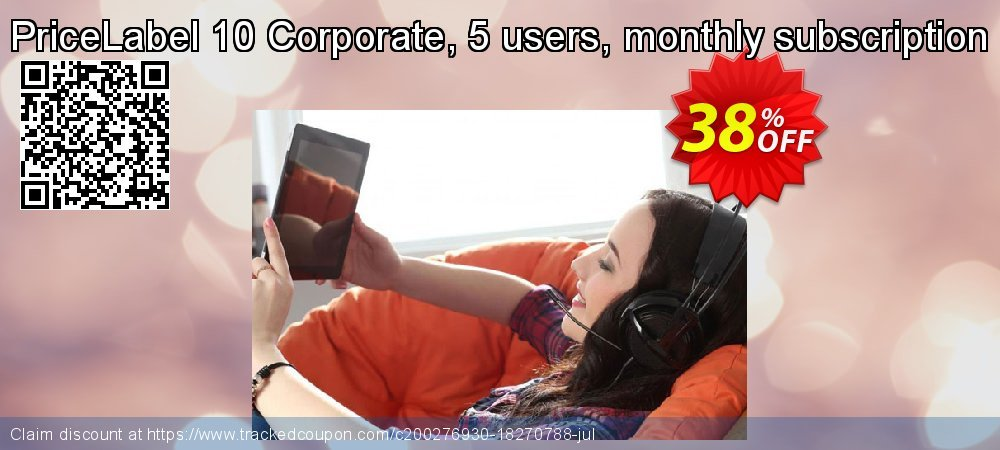 Get 30% OFF PriceLabel 10 Corporate, 5 users, monthly subscription offering sales