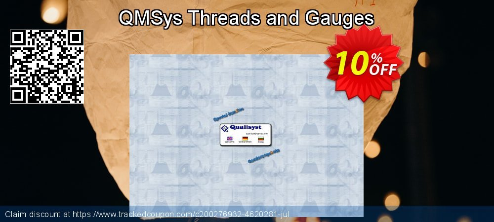 QMSys Threads and Gauges coupon on Exclusive Teacher discount super sale