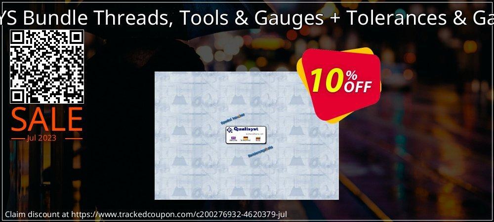 QMSYS Bundle Threads, Tools & Gauges + Tolerances & Gauges coupon on Back to School season offering sales