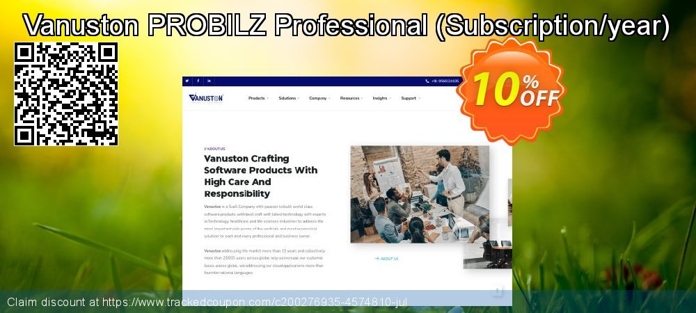 Vanuston PROBILZ Professional - Subscription/year  coupon on Happy New Year promotions