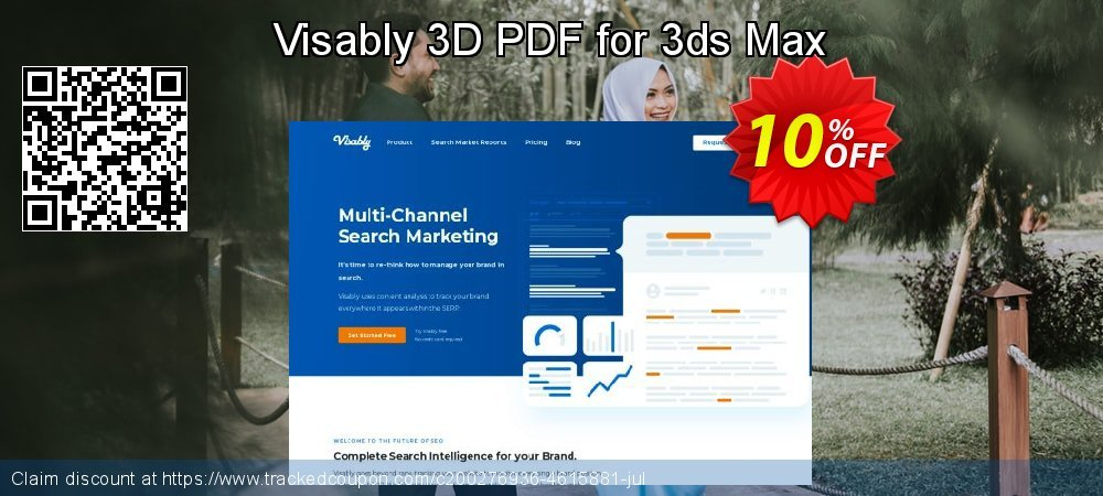 Get 10% OFF Visably 3D PDF for 3ds Max offering sales