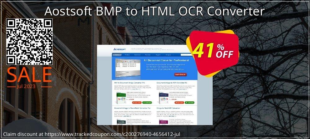 Get 40% OFF Aostsoft BMP to HTML OCR Converter offering deals