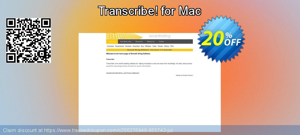 Transcribe! for Mac coupon on Happy New Year discount