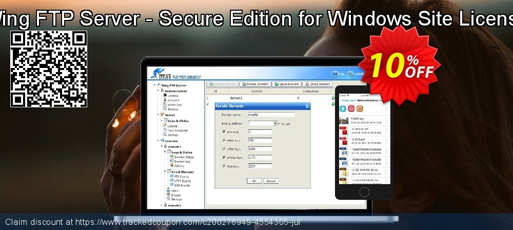 Wing FTP Server - Secure Edition for Windows Site License coupon on Father's Day super sale