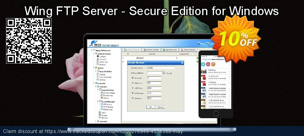 Wing FTP Server - Secure Edition for Windows coupon on New Year's Day offering discount