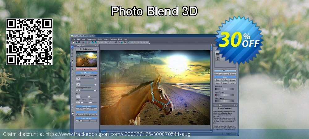 Photo Blend 3D coupon on Back to School promo discount