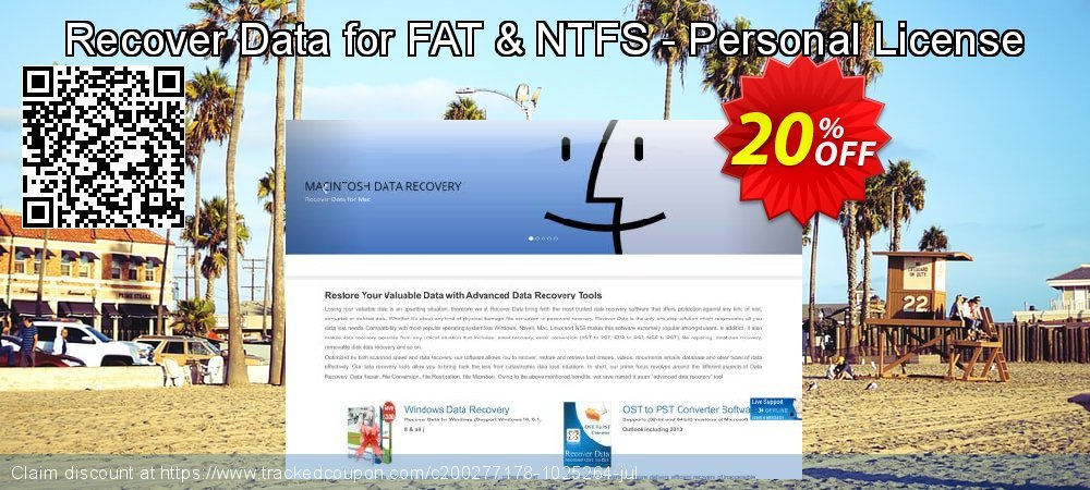 Claim 20% OFF Recover Data for FAT & NTFS - Personal License Coupon discount May, 2021