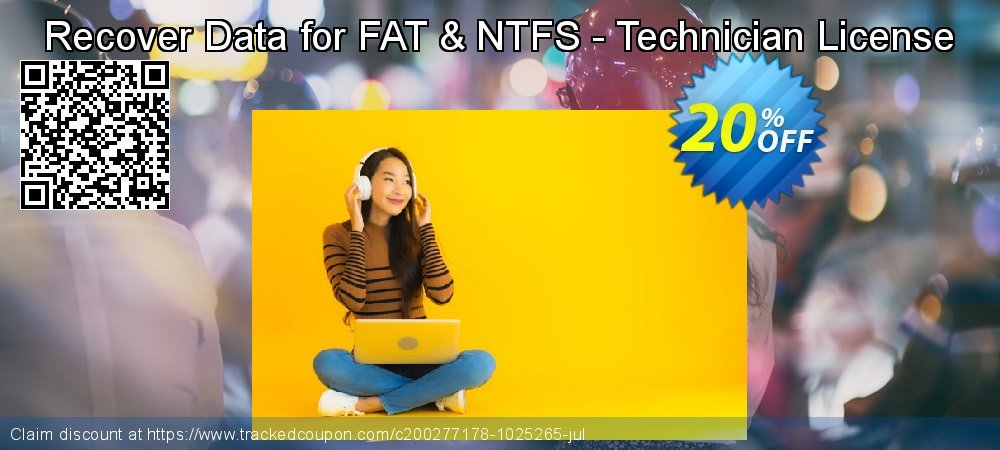 Claim 20% OFF Recover Data for FAT & NTFS - Technician License Coupon discount May, 2021