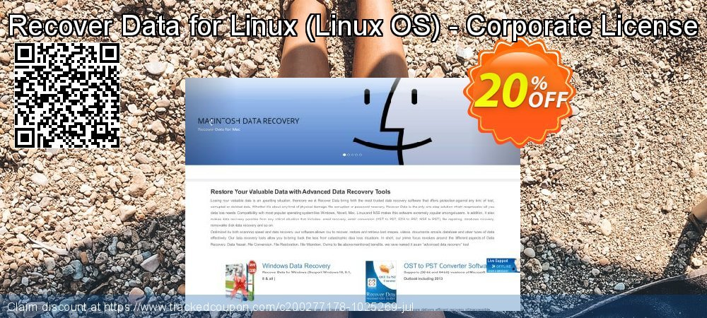 Claim 20% OFF Recover Data for Linux - Linux OS - Corporate License Coupon discount May, 2021