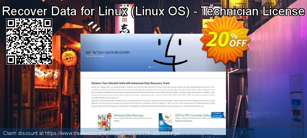 Claim 20% OFF Recover Data for Linux - Linux OS - Technician License Coupon discount May, 2021