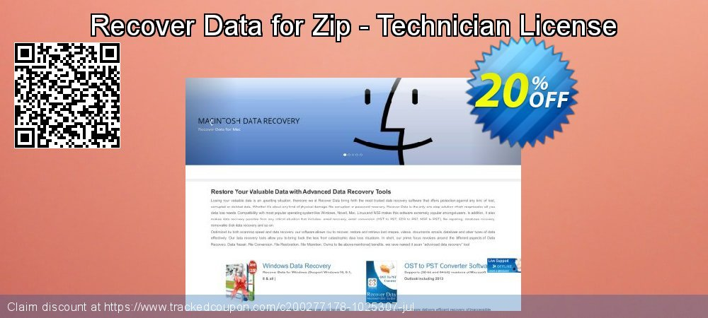 Claim 20% OFF Recover Data for Zip - Technician License Coupon discount May, 2021