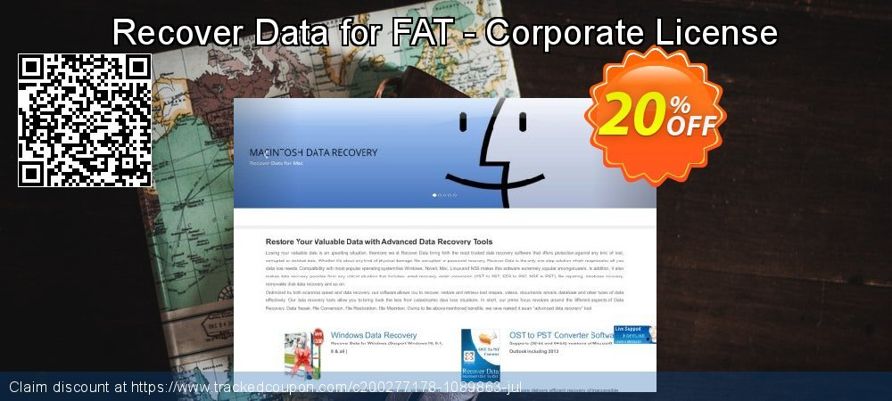 Recover Data for FAT - Corporate License coupon on Back to School season offering discount