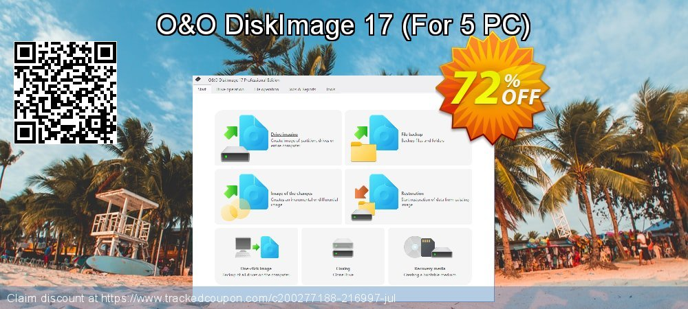 O&O DiskImage 16 - For 5 PC  coupon on New Year's Day offering sales