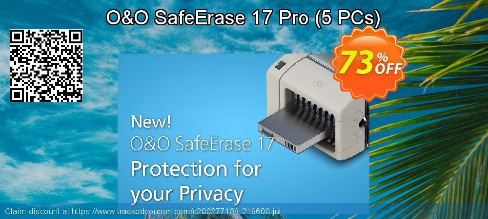 O&O SafeErase 16 Professional Edition - 5 PCs  coupon on Mom Day offer