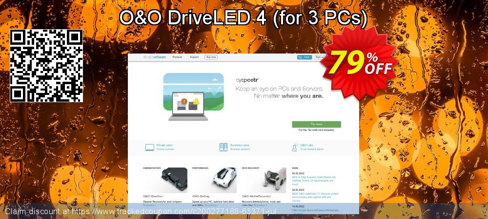 O&O DriveLED 4 - for 3 PCs  coupon on Mothers Day offering discount