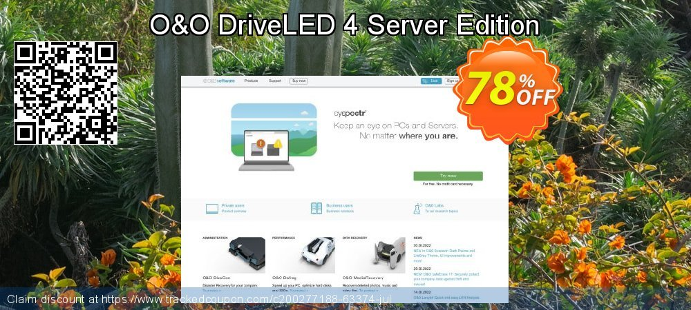 O&O DriveLED 4 Server Edition coupon on Mom Day discounts