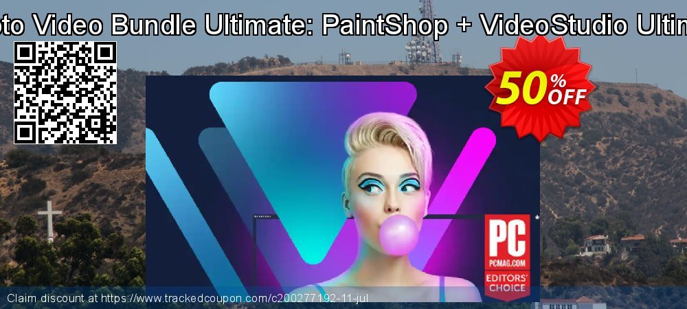 Corel Photo Video Bundle Ultimate: PaintShop Pro 2022 Ultimate + VideoStudio Ultimate 2021 coupon on Halloween offering discount