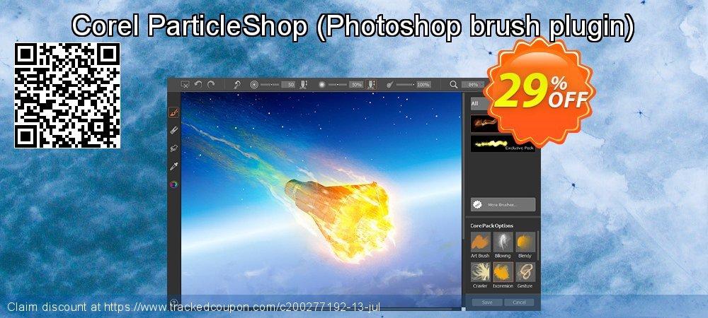 Corel ParticleShop - Photoshop brush plugin  coupon on Black Friday discounts