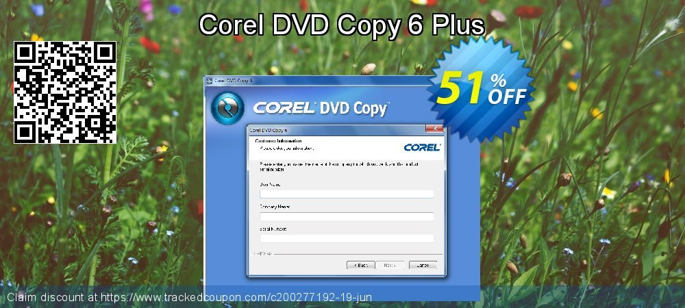 Corel DVD Copy 6 Plus coupon on Black Friday offering discount