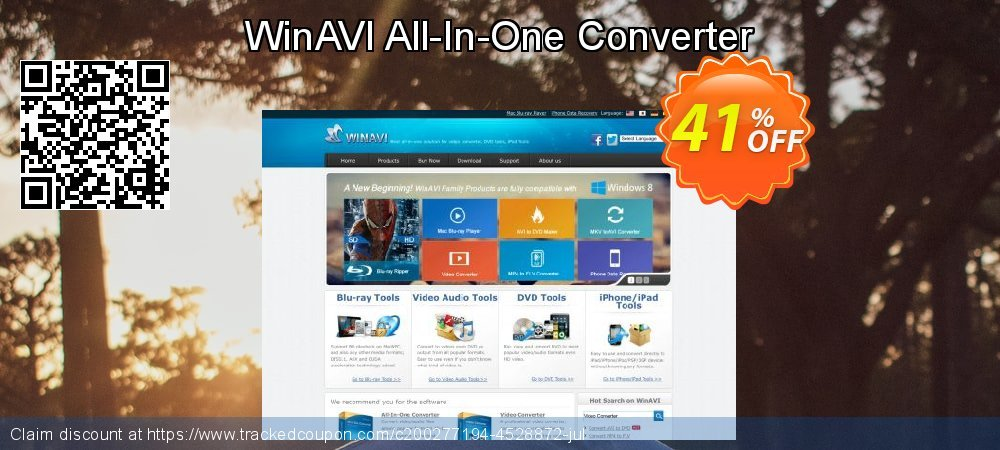 WinAVI All-In-One Converter coupon on Thanksgiving offering sales