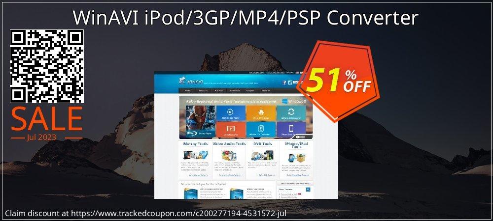 WinAVI iPod/3GP/MP4/PSP Converter coupon on Father's Day sales
