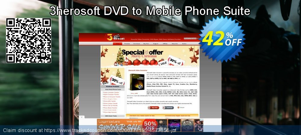 3herosoft DVD to Mobile Phone Suite coupon on New Year super sale