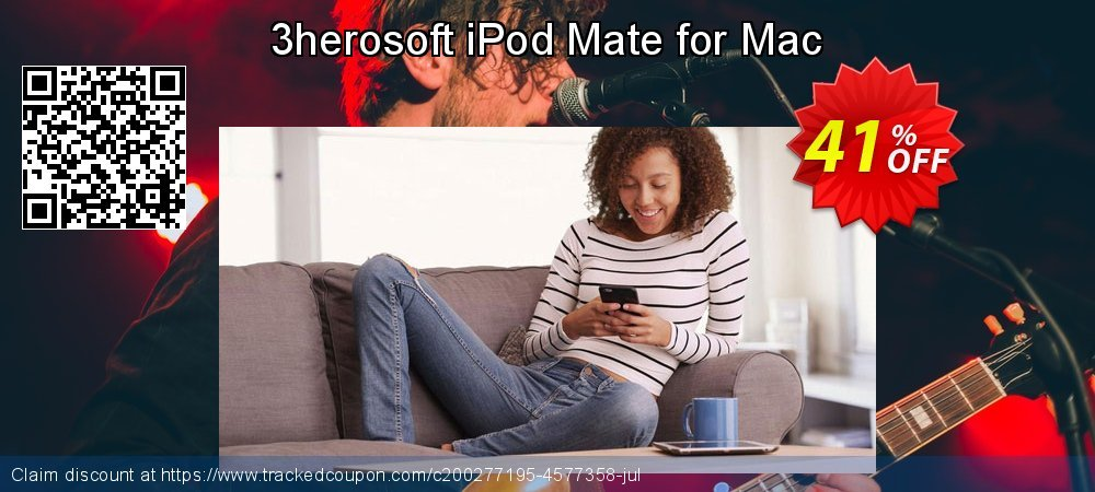 3herosoft iPod Mate for Mac coupon on July 4th offering sales