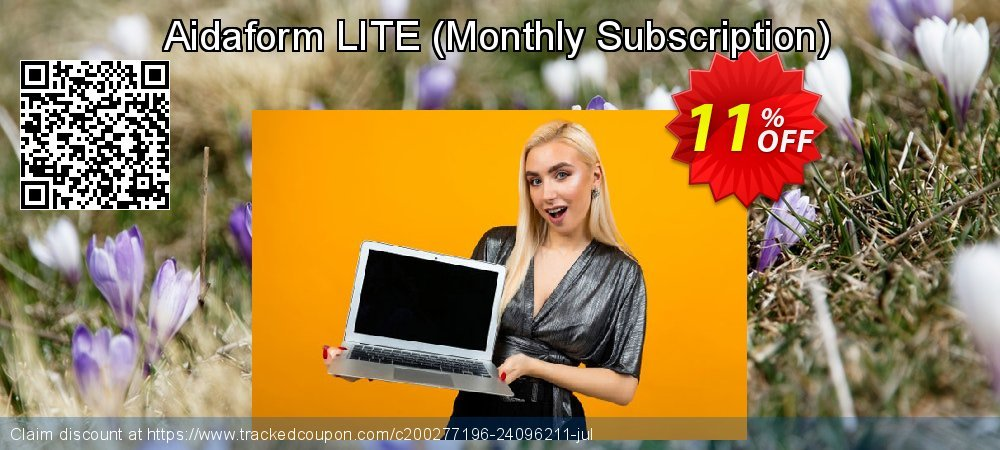 Get 11% OFF Aidaform LITE (Monthly Subscription) offering sales