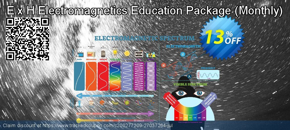 Get 10% OFF E x H Electromagnetics Education Package (Monthly) offering sales