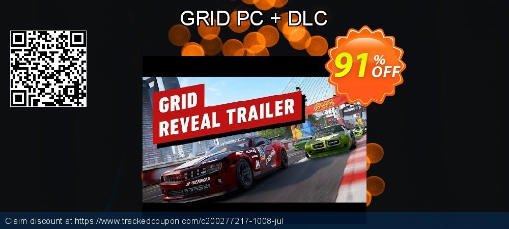 GRID PC + DLC coupon on Lazy Mom's Day promotions