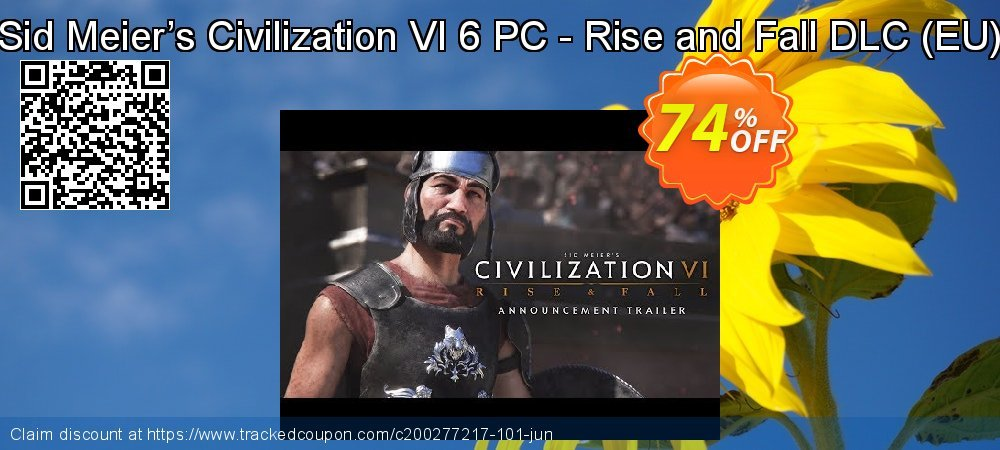 Sid Meier's Civilization VI 6 PC - Rise and Fall DLC - EU  coupon on Mothers Day super sale