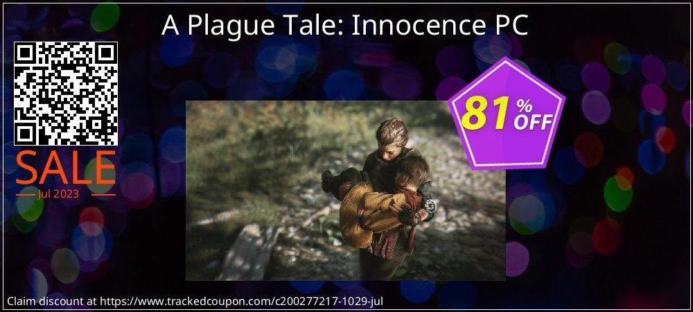 Get 75% OFF A Plague Tale: Innocence PC promo sales