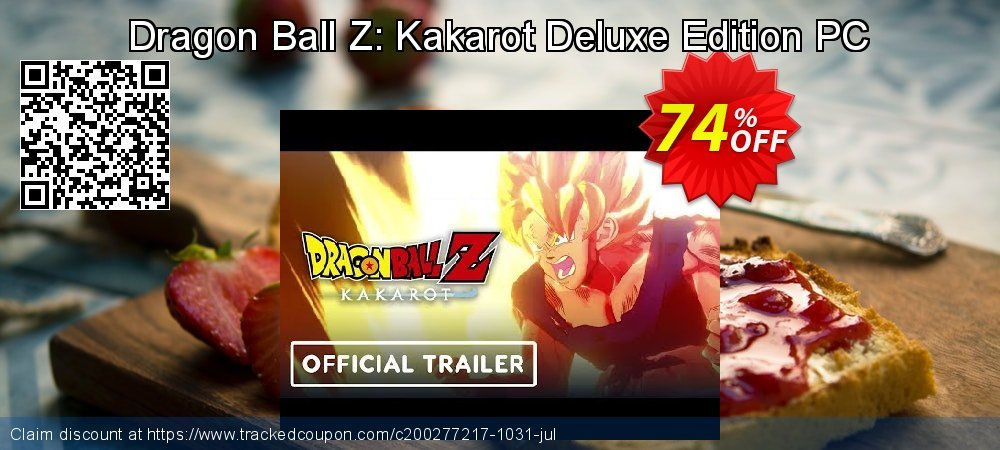 Dragon Ball Z: Kakarot Deluxe Edition PC coupon on American Chess Day offering discount