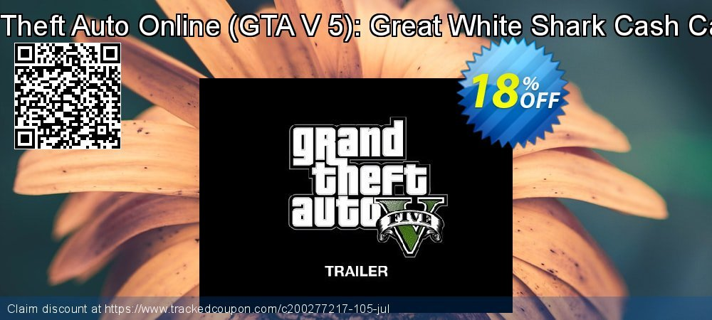 Grand Theft Auto Online - GTA V 5 : Great White Shark Cash Card PC coupon on Mothers Day deals