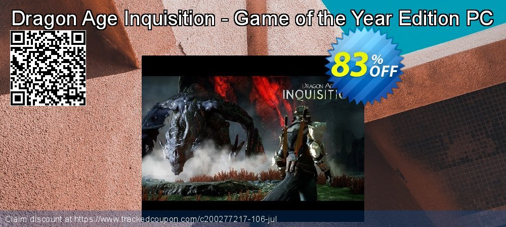 Dragon Age Inquisition - Game of the Year Edition PC coupon on Mom Day offer