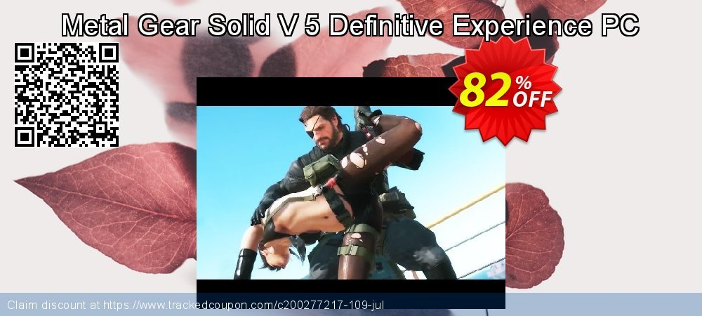 Metal Gear Solid V 5 Definitive Experience PC coupon on Mothers Day offering sales